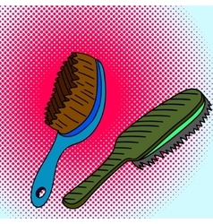 Comb Pop art vector image
