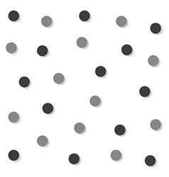 Gray Black Circle Abstract White Background vector image vector image