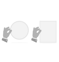hand holding a leaf black and white vector image