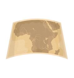 map of mainland africaafrican safari single icon vector image