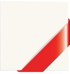 Red paper corner vector image