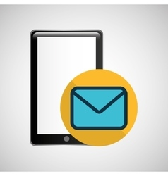 smartphone black message email graphic vector image