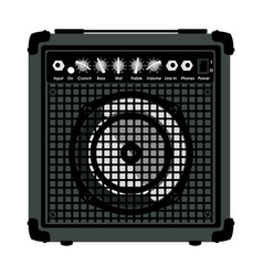 combo amplifier for guitar vector image
