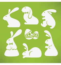 easter rabbits vector image vector image