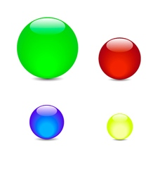 green blue red yellow balls vector image vector image