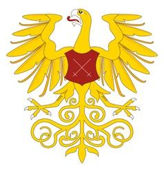 Heraldic eagle 19 vector image vector image