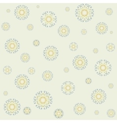 Seamless lacy pattern on yellow background vector