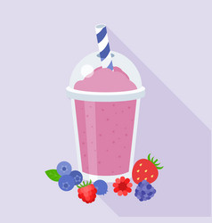 berries smoothie vector image