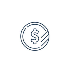 dollar sign coin icon financial currency exchange vector image vector image