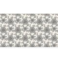 Elegant Black flower pattern on light background vector image