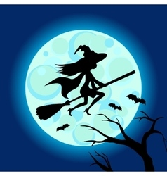 Halloween of mysterious night sky vector image vector image