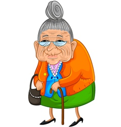 Old lady vector