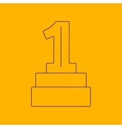 1st place award line icon vector