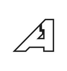 A 1 letter lines logo design vector
