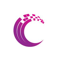 abstract circle technology logo image vector image