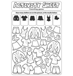 Activity sheet counting game 3 vector