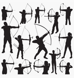 archer silhouettes vector image