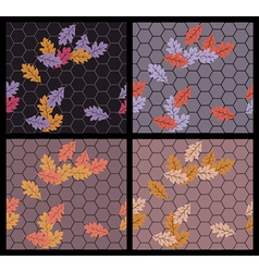 Autumn sidewalk vector