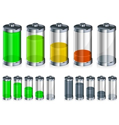 battery energy color vector image