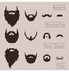 Beards and Mustaches set vector image