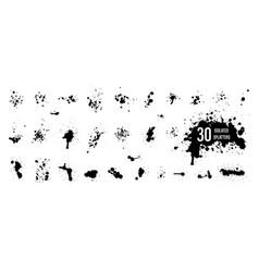 black ink blots watercolor splatters vector image