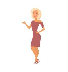 Blonde woman wearing dress vector
