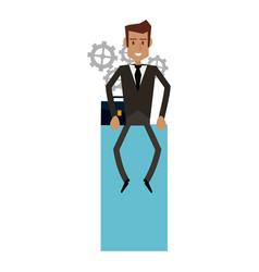 businessman successful cartoon vector image