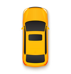 Car top view icon vehicle vector