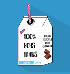 Cartoon bottle of boys tears with dotted vector