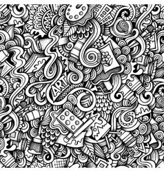 Cartoon hand-drawn doodles on subject art vector