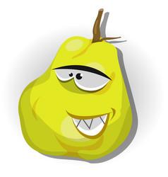 cartoon happy quince character vector image vector image