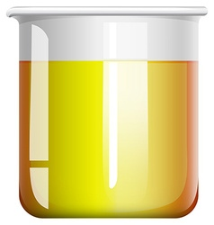 Chemical mixture in beaker vector image