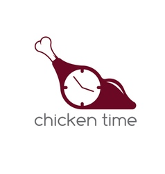 chicken time concept restaurant design template vector image