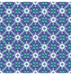 Christmas knitting pattern with snowflackes vector image
