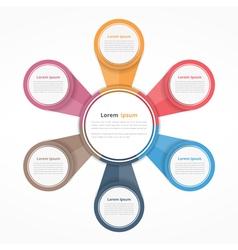 Circle Infographics Six Elements vector