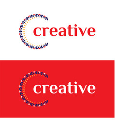 clever and creative luxury ornament letter c logo vector image