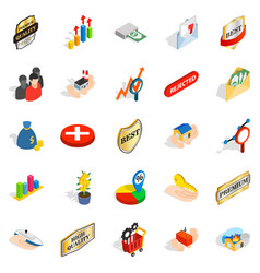 Control icons set isometric style vector