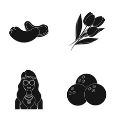 Cooking hippies and other web icon in black style vector