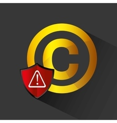 copyright symbol design vector image