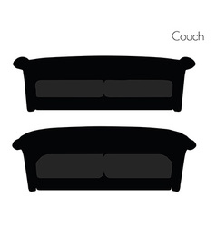 Couch on white background vector