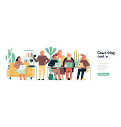 Coworking centre horizontal vector