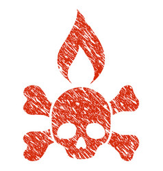 Death ignition icon grunge watermark vector