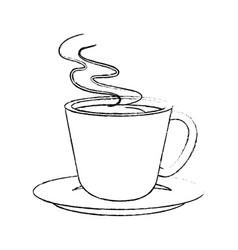delicious cup of coffee vector image