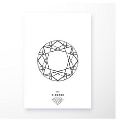 Diamond poster geometric design vector