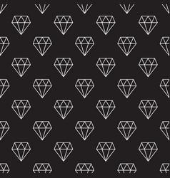 diamonds dark seamless pattern or vector image
