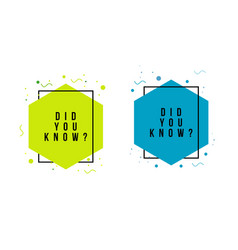 Did you know template design vector