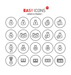 easy icons 08b money vector image