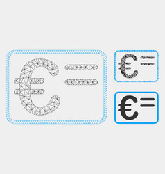 euro account card mesh carcass model and vector image