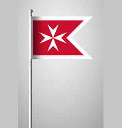 Flag of malta version with maltese cross vector