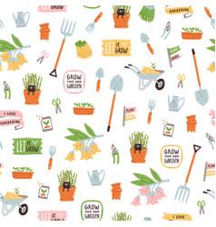 Garden theme pattern vector